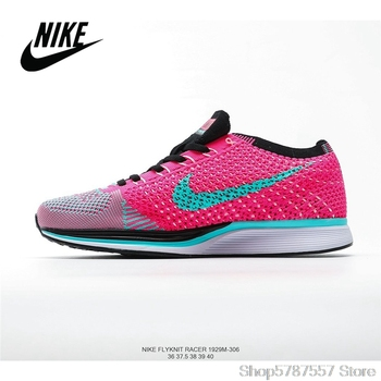 NIKE Wmns Joyride Run Flyknit Racer Barefoot Flying Line Cushioning Sports Running Shoes Zoom Air Women Outdoor Lawn Breathable