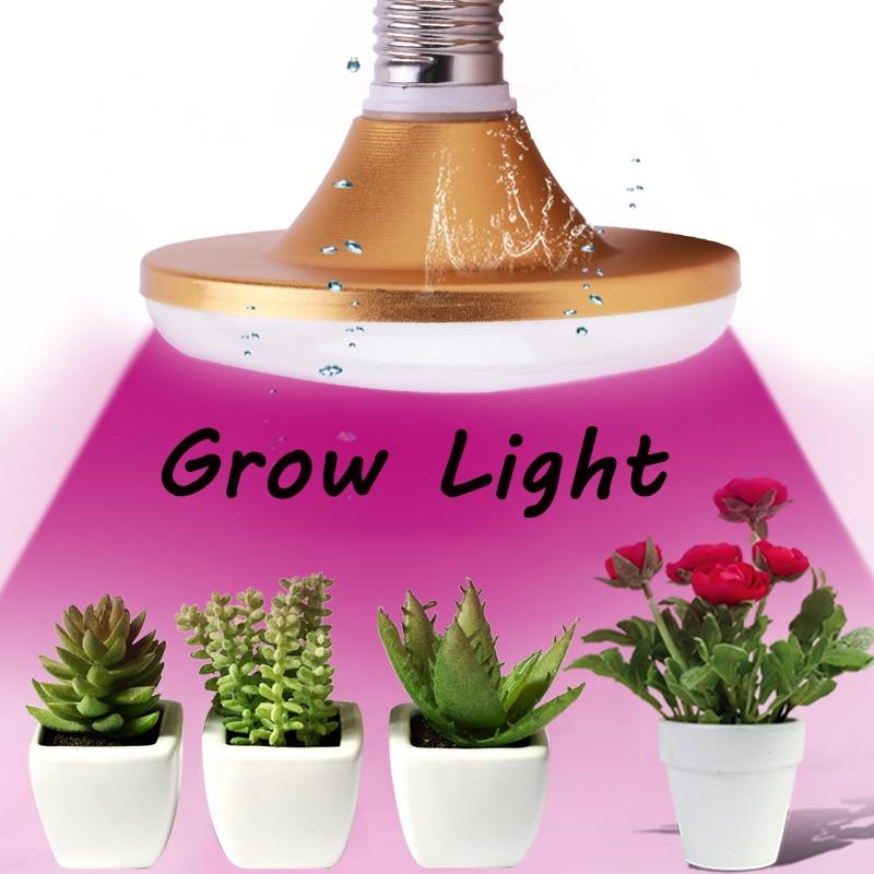 Full Spectrum LED Grow Light Bulb E27 Growing Lights Phyto Grow Plant Lamp For Indoor Hydroponics Flower Greenhouse 220V 30 Leds