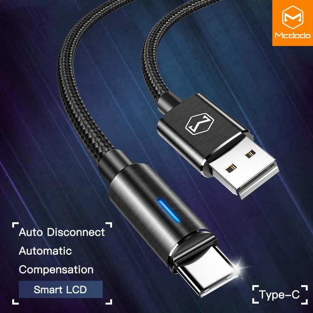 10 יח\חבילה Mcdodo USB C 2A מהיר טעינת USB C כבל סוג C QC3.0 נתונים כבל טלפון מטען עבור סמסונג S9 + S8 huawei Mate USB חוט