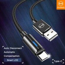10 unids/lote Mcdodo USB C 2A carga rápida USB C Cable tipo C QC3.0 Cable de datos teléfono cargador para Samsung S9 + S8 huawei Mate Cable USB