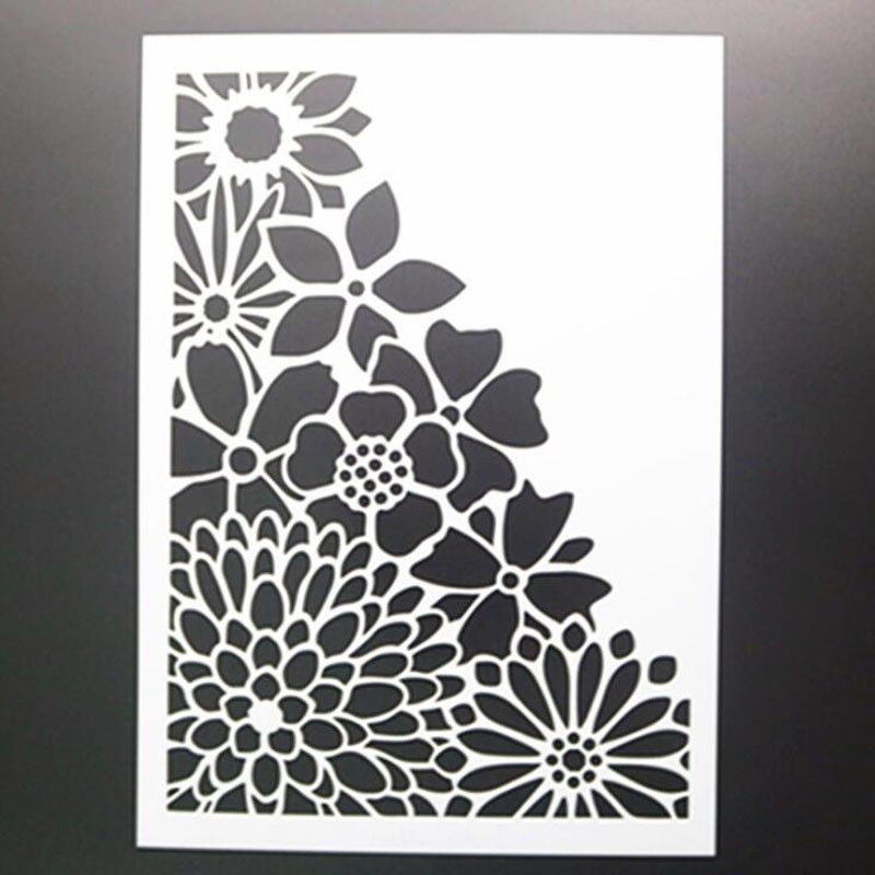 Sunflower Painting Template DIY Layering Stencils Painting Scrapbook Coloring Embossing Album Decorative Card Template Reusable