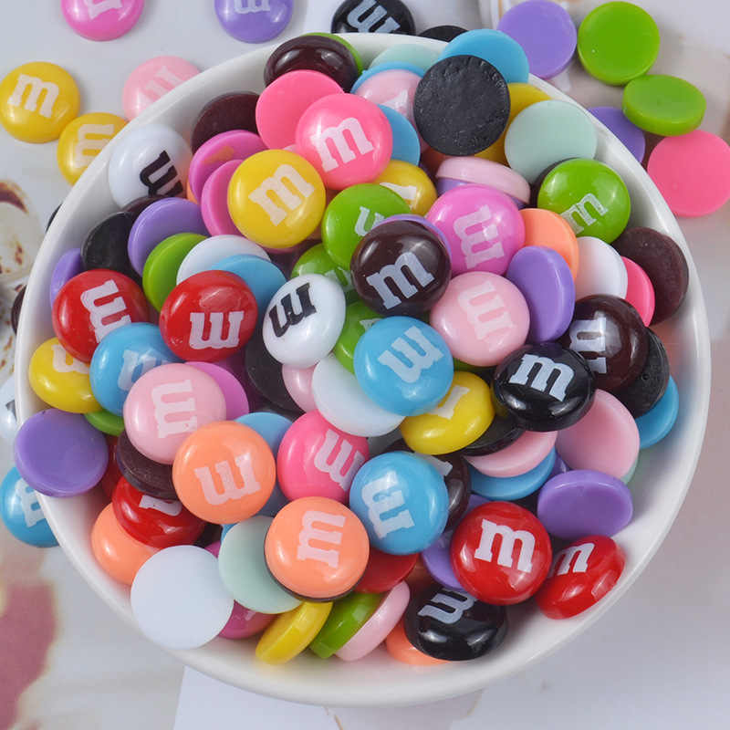 10pcs/lot Slime Charms Colorful Mixed Candy Resin Plasticine Slime Accessories Beads Making Supplies For DIY Scrapbooking Crafts