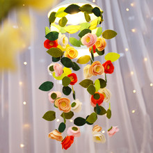 Meian Handgemaakte Non Woven Vilt DIY Craft Kits Bloemen Lamp Decoratie Fotografie Props Onvoltooide Sets Opknoping Ornament(China)