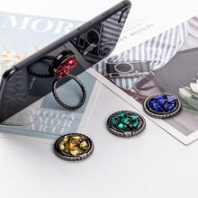 Diamond Style Finger Ring Phone Holder Stand Grip Metal Cell Desk