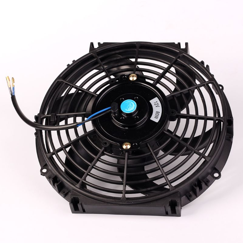 10inch 12inch 14inch Universal Car Radiator Fan Slim Push Pull Electric Engine Cooling Fan 12V|Fans & Kits| |  - title=