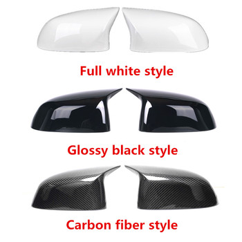 1 Pair Carbon Rear Mirror Cover Fit For X4 G02 & X3 G01 ABS Rearview Mirror Replacement Cover For X5 G05 & X6 G06 2018-IN