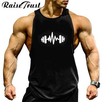New fashion cotton sleeveless shirts tank top men Fitness shirt mens singlet colete Bodybuilding Plus size