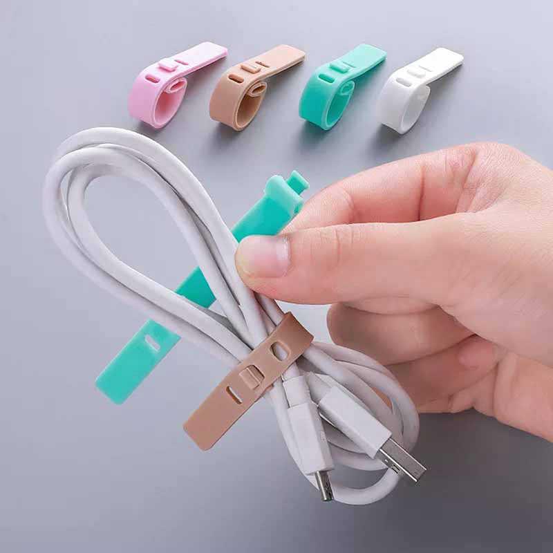 4 Stks/set Siliconen Kabel Winder Oortelefoon Protector Usb Telefoon Houder Accessoire Packe Organisatoren Creatieve Reizen Accessoires