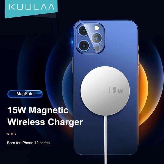Магнитное беспроводное зарядное устройство KUULAA 15 Вт 1