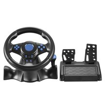 Steering-Wheel Wheels-Drive Game Remote-Controller Racing Joysticks Vibration for Ps4
