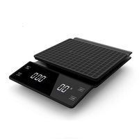 Coffee Pot Electronic Scale Hand Punch Multi-functional Bar Counter Electronic Scale Gram Scales with Timer 3kg Kitchen Scale