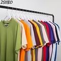Высокое качество 2020 новая однотонная 100% хлопковая футболка унисекс с коротким рукавом футболки для мужчин и женщин скейтборд футболка для ...