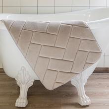 Mata łazienkowa z pianki Memory chłonne dywaniki kąpielowe flanelowe dywaniki toaletowe wycieraczka wejściowa dywany do łazienki tłoczone dywaniki podłogowe tanie tanio MHOYMET DD102 Mikrofibra W paski Ekologiczne Zaopatrzony Nowoczesne Maszyna wykonana Łazienka Memory foam bathroom mat kitchen rugs toilet rugs