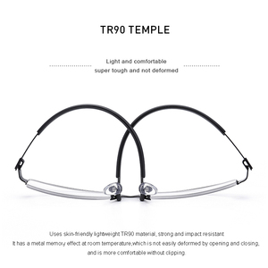 Image 3 - MERRYS DESIGN Men Titanium Alloy Glasses Frame Half Optical Frame Myopia Prescription Optical Eyewear Alloy Rubber Temples S2158