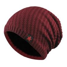2019 new autumn and winter men women five-star wool hat outdoor plus velvet knit hats warm skullcap ladies ski cap