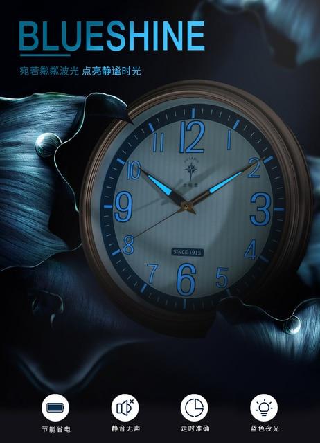 Horloge murale lumineuse de luxe   Design moderne, Large, lumineuse, pour salon, nuit créative, lumière murale rétro C6, pour bureau