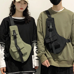 Multifunctionele Vest Borst Rig Tas Vrouwen Street Style Borst Zak Functie Hip Hop Borst Pack Unisex Tactical Schouder Messenger Bag
