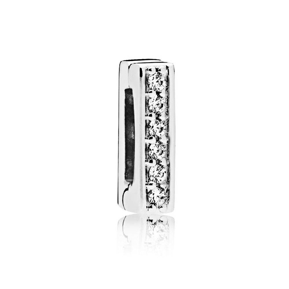 FEOLEO натуральная 925 пробы Серебряная скобка, очаровательные, подходят к оригиналу Pandora браслетов reflexions для Для женщин розового золота Цвет ювелирные изделия - Окраска металла: PAX013-A
