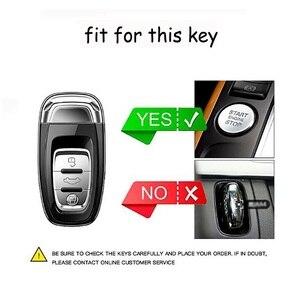 Image 5 - עור רכב מרחוק חכם מפתח כיסוי מעטפת Fob מקרה עבור אאודי A1 A3 A4 A5 A6 A7 A8 Quattro Q3 q5 Q7 2009 2011 2012 2013 2014 2015