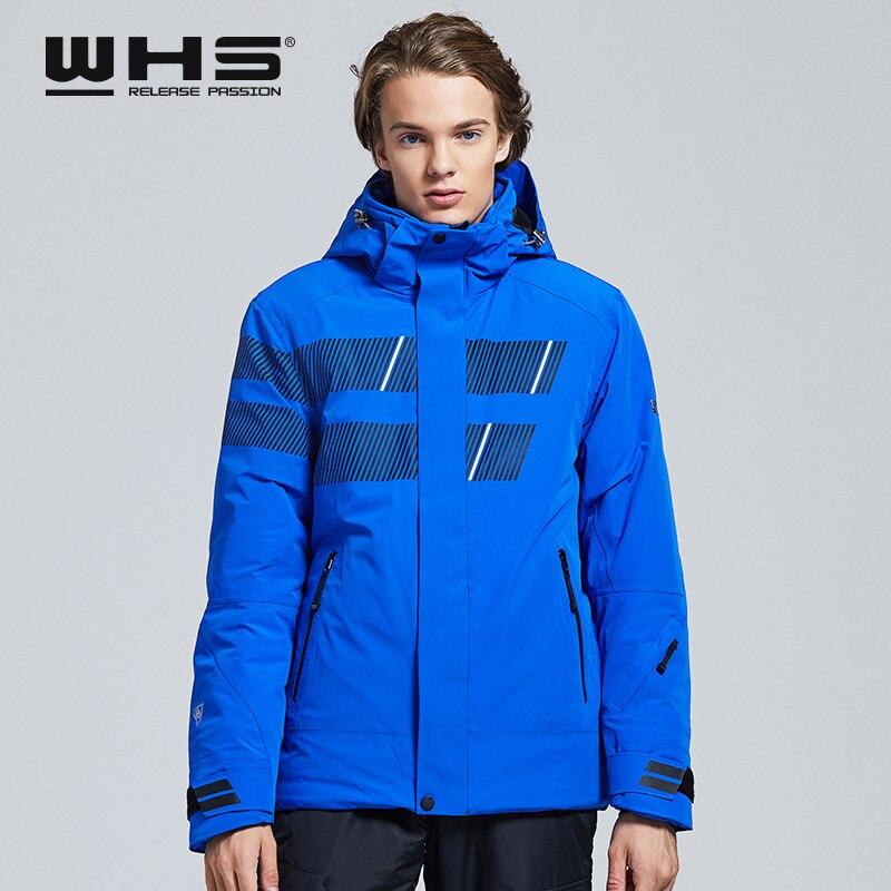 WHS 2019 nouveaux hommes vestes de Ski en plein air coupe-vent hommes manteau chaud hommes veste de neige adolescent vêtements Slim mâle veste chaude