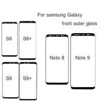 Front Outer Screen Glass Lens Black Replacement For Samsung Galaxy S9 S8 S10 s10E Plus s8 S8+ S9+ plus S10 S10+ Note 8 Note 9