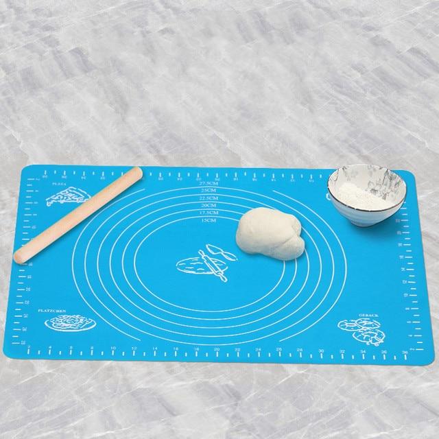 Tapis de pétrissage et de roulement en Silicone 40x30 avec échelle planche à découper en Silicone outil de cuisson antidérapant tapis de four haute température