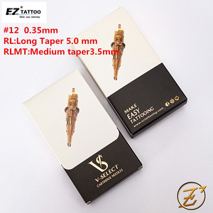 Image 2 - EZ V Select Tattoo Cartridge Needles #12 0.35mm Round Liner Tattoo Needles for Cartridge Tattoo Machine Grips  20pcs/box