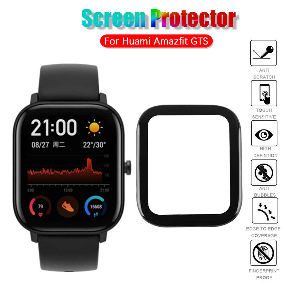 HD Full Coverage 3D Full Coverage Soft Clear Protective Film Smart watch Guard For Huami Amazfit GTS Smart Watch Screen Protecto