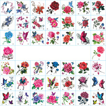 66Pcs/Set Temporary Tattoo Stickers Waterproof Arm Clavicle Body Art Sticker Disposable butterfly tatouage temporaire