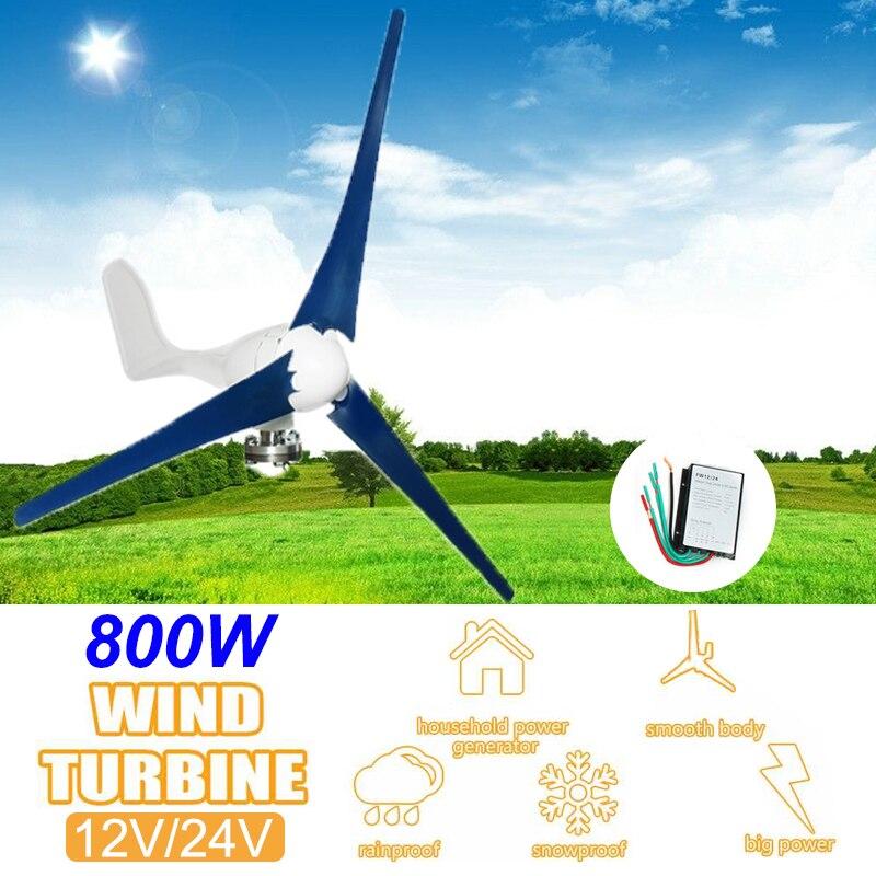 800 w 12 v 24 v 3 laminas turbinas eolicas horizontais gerador casa turbinas eolicas residencial