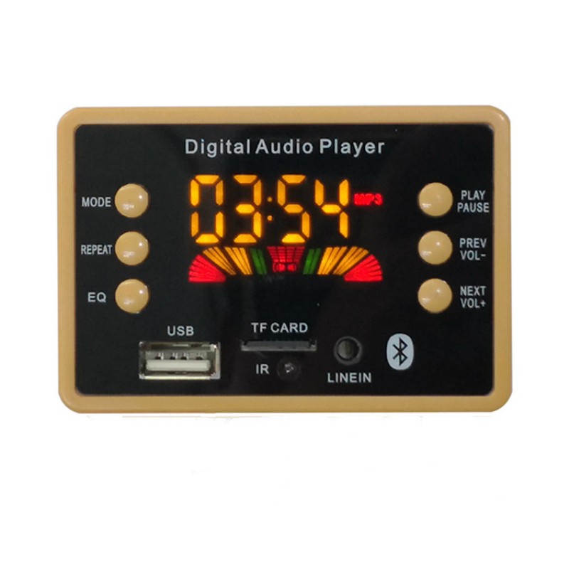Беспроводной Bluetooth 5,0 MP3 WMA декодер плата аудио модуль Поддержка USB TF AUX FM EQ Функция аудио радио для автомобиля аксессуары