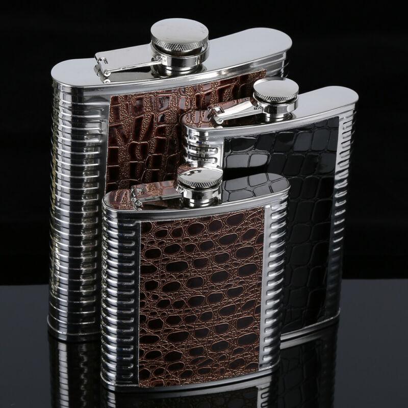 Hip Flask 5 6 7 8 9 10oz Stainless Steel PU Pocket Drink Holder Whisky Liquor Hip Flask 5 6 7 8 9 10oz Stainless Steel PU Pocket Drink Holder Whisky Liquor Vodka