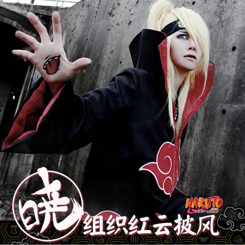 Dijual Hot Anime Naruto Akatsuki/Uchiha Itachi Cosplay Pesta Natal Halloween Kostum Jubah Cape Ukuran Besar S-XXL Pakaian