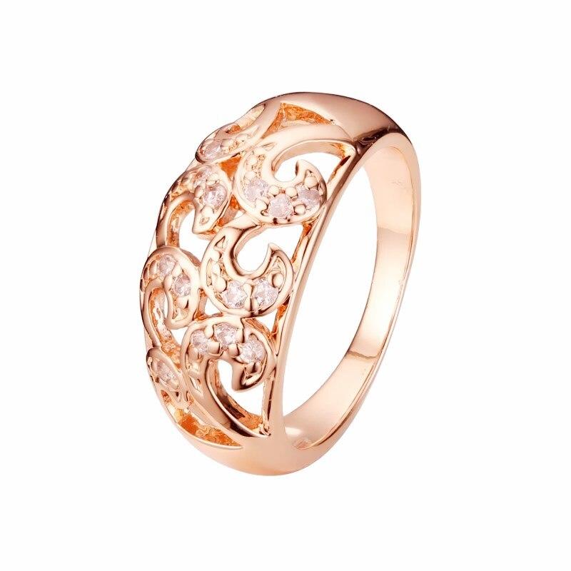 Новые женские кольца, цветок кубического циркония, свадебные украшения, модные, винтажные, 585, цвета розового золота, Женское кольцо|women rings|ring flowervintage rose | АлиЭкспресс
