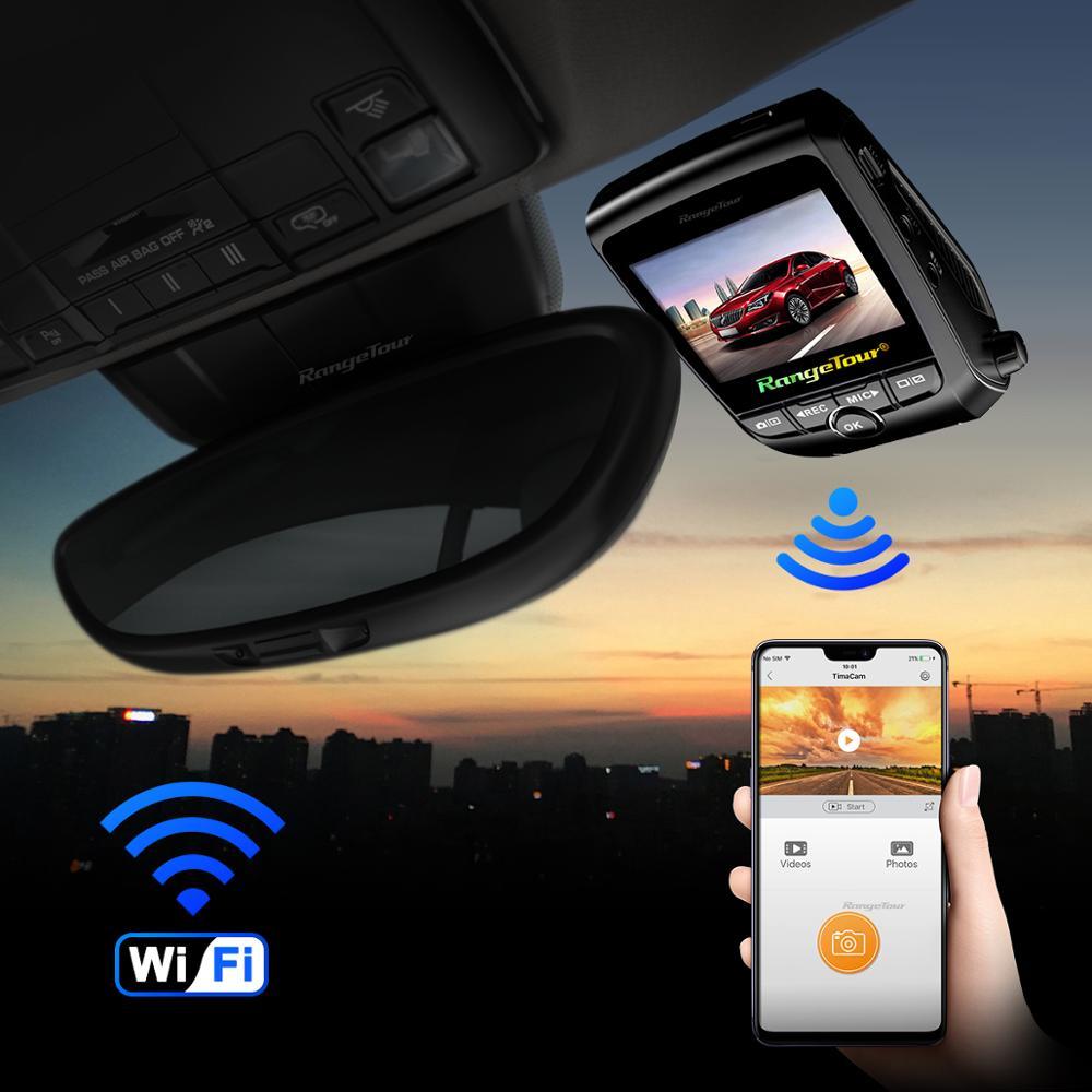 Carro dvr 4 k 2160 p gps wifi adas traço cam lente dupla 1080 p + 1080 p veículo câmera do carro gravador de condução - 4