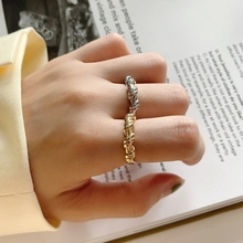 Elegant Bandage Ring 925 Sterling Silver Big Irregular Open Ring Personality Western Europe 18k Gold Ring For Women Fine Jewelry 925 sterling silver personality retro winding ring ladies old thai silver twist open ring fine jewelry party elegant accessories