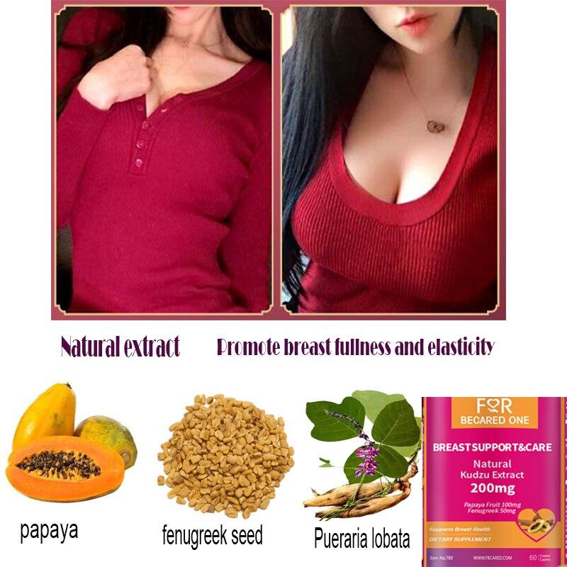 Pueraria Lobata Papaya Extract200mg * 60pcs Large Breast Enlargement Enhance Breast Fullness And Elasticity