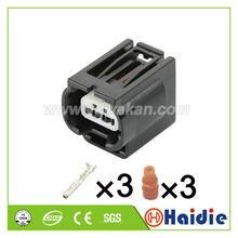 O envio gratuito de 2 conjuntos 3pin auto pequena lâmpada plug honda invertendo luz cablagem plug conector à prova dwaterproof água 7283-2147-30