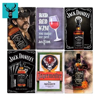 Famous Whisky Poster Beer Tin Sign Plaque Plate Wall Decor Casino Decorative Plates Metal Pub Metal Vintage For Bar Pub Club