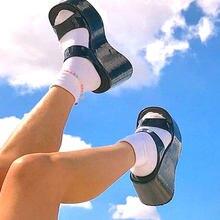 2021 размера плюс 43 обувь в западном стиле; Женские высокие черные женские туфли на платформе в стиле панк, готика косплэй удобные богемные же...
