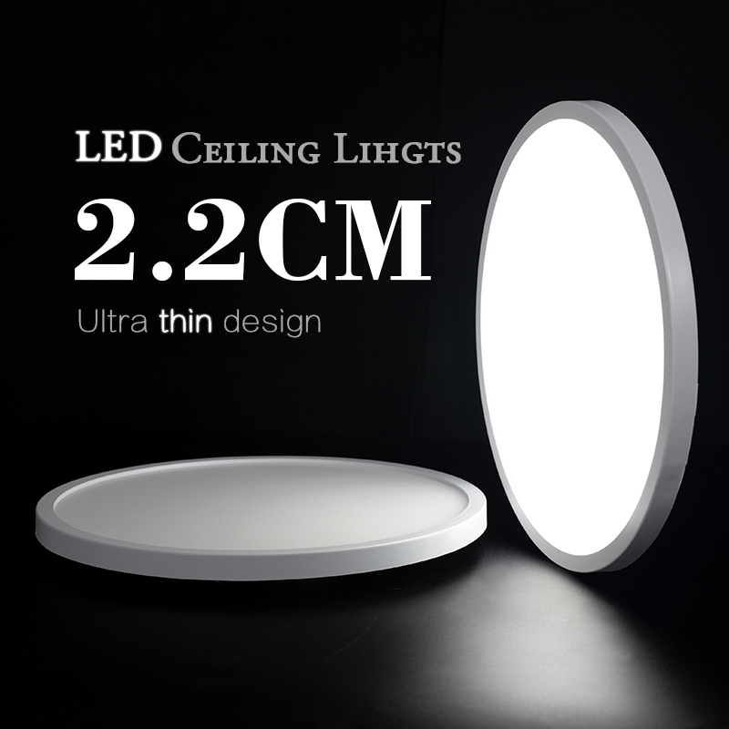 Living Room lights LED Ceiling Lamp Ultra-thin Cold White18W 24W 36W 48W lighting fixture Ceiling Lights for Bedroom and kitchen 1