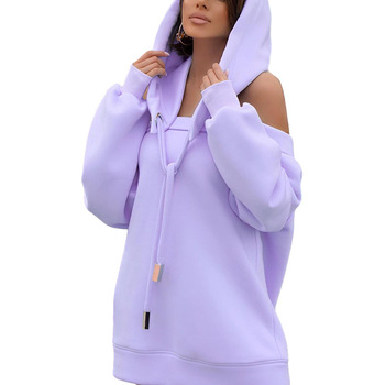 Autumn Winter Hoodie Dresses For Women Off-Shoulder Sweater Shirts Casual Oversize Vestidos Female Hoody Tops 13