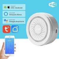 Sensor de alarma de sirena WiFi sistema de seguridad inteligente para el hogar Notificación de aplicación alimentada por USB a través del teléfono inteligente compatible con Alexa Google Home