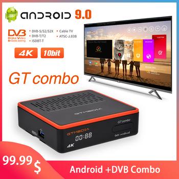 GTMEDIA GT Combo Android 9 0 TV BOX Core 3D 4K Ultra 4K Dual WiFi 2 4 5 GHz Smart TV BOX DVB-S2X T2 C 10-bitowy odbiornik satelitarny tanie i dobre opinie 1000 M CN (pochodzenie) Amlogic S905X3 16 GB eMMC HDMI 2 1 2G DDR3 1x USB 2 0 1x USB 3 0 Wliczone w cenę DVB-S S2 S2X DVB-T T2