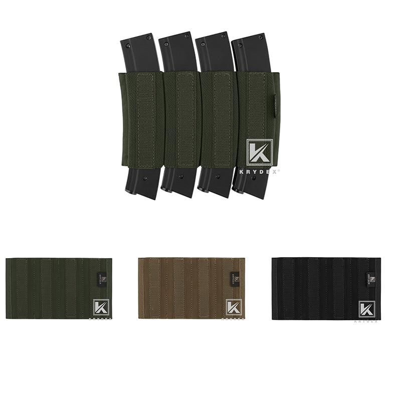 KRYDEX Spiritus Style Quadruple pochette d'insertion de magazines pour sous-étui Glock MP5 MP7 7.25