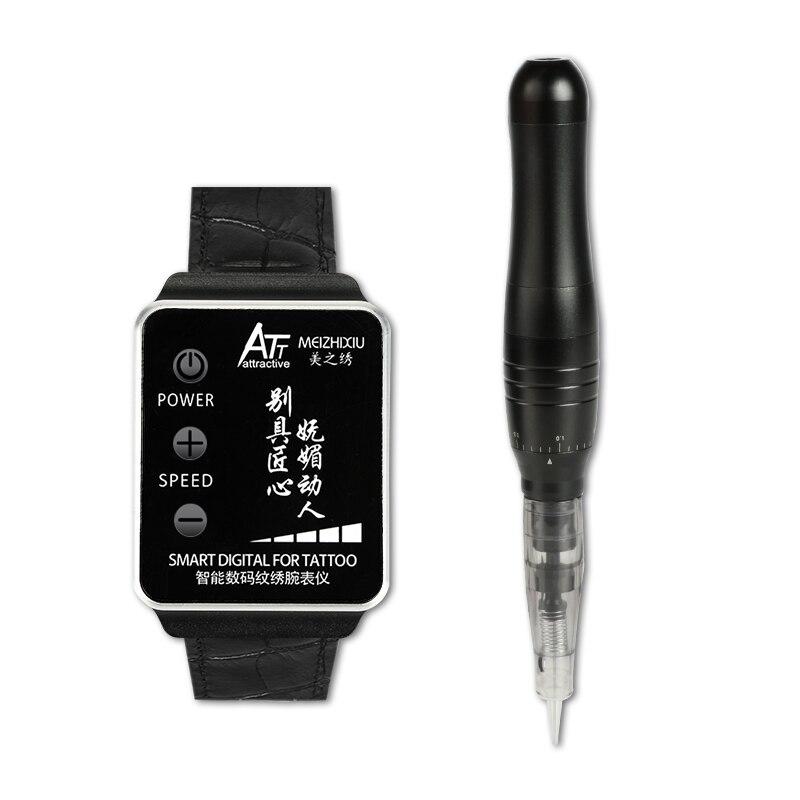 Kit de Machine de maquillage Permanent tatouage montre numérique intelligente alimentation de charge pour beauté sourcils lèvres Eyeliner