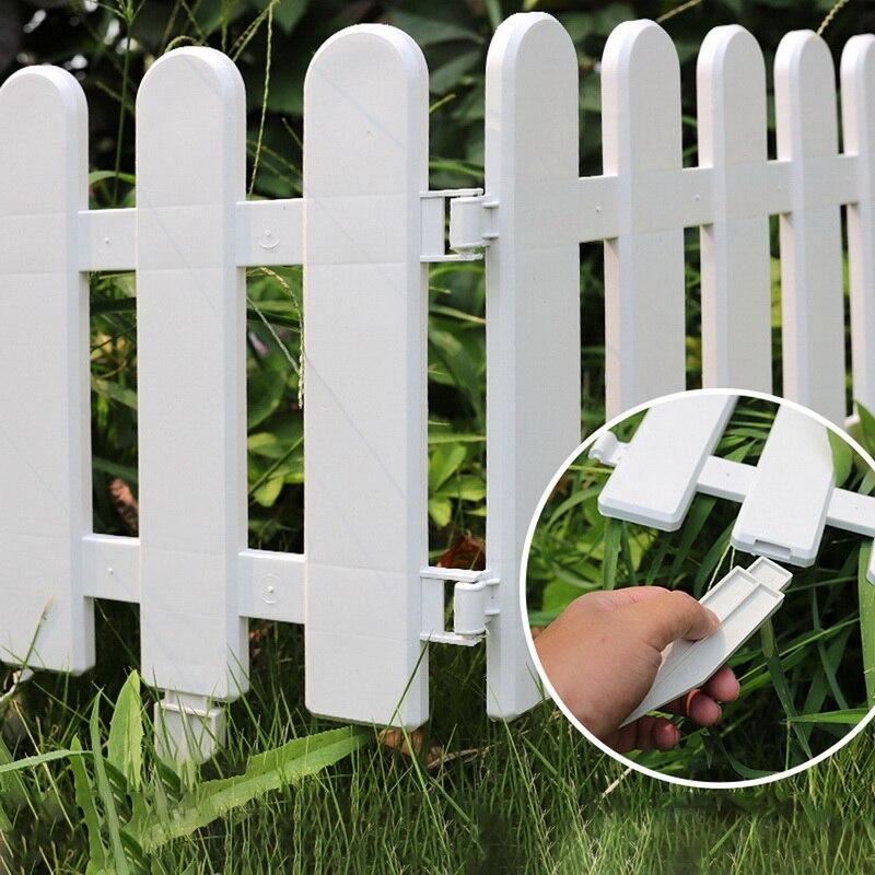 5 шт. пластиковый забор для двора, внутреннего сада, забор для детского сада, цветов, сада, овощей, маленький забор, сделай сам, Рождественское...