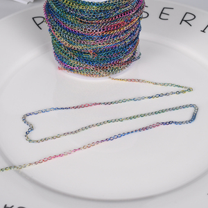 2 Meter 2.5mm Rainbow Necklace Bracelet Diy Extended Extension Chain Multicolor Extender Tail Chains For Jewelry Making Supplies