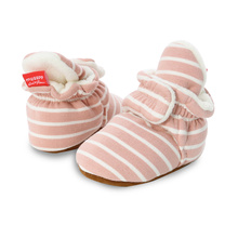 Baby Shoes Stripe Booties Cotton Comfort Soft Anti-slip