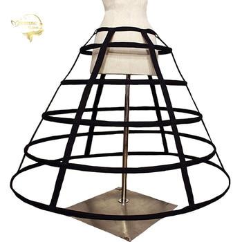 цена на In Stock Hollow Birdcage 5 Hoops Big Petticoats Cosplay Lolita Full Crinoline Slip for Ball Gown Wedding Dresses Underskirt New
